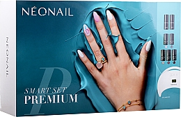 Parfémy, Parfumerie, kosmetika Startovací sada - NeoNail Professional Smart Set Premium (n/polish/5x3ml + n/base/7.2ml + n/top/7.2ml + lamp/1pc + n/cleaner/50ml + n/remover/50ml + n/pads/250pcs + nail/file/2pcs)