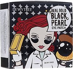 Parfémy, Parfumerie, kosmetika Náplasti pod oči se zlatem a černými perlami - Dewytree Real Gold Black Pearls Eye Patch