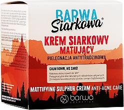 Parfémy, Parfumerie, kosmetika Matující sírový krém - Barwa Anti-Acne Cream Sulfuric