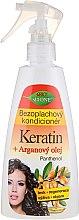 Parfémy, Parfumerie, kosmetika Bezoplachový kondacaonér na vlasy - Bione Cosmetics Keratin + Argan Oil Leave-in Conditioner With Panthenol
