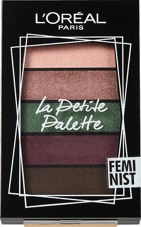Paleta očních stínů - L'Oreal Paris La Petite Palette Feminist Eyeshadow
