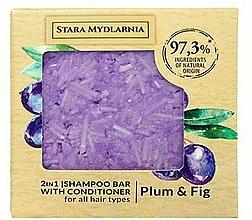 Parfémy, Parfumerie, kosmetika Tuhý šampon-kondicionér - Stara Mydlarnia Plum & Fig 2in1 Shampoo Bar