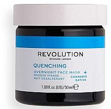 Parfémy, Parfumerie, kosmetika Plaťová maska - Revolution Skincare Thirsty Mood Quenching Moisturizing Night Facial Mask