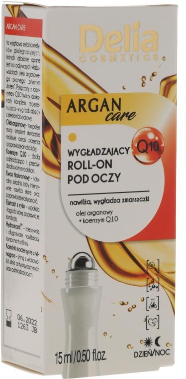 Kuličkový gel s arganovým olejem pro pleť kolem očí - Delia Argan Care Under Eye Roll-On Wrinkles Smoother