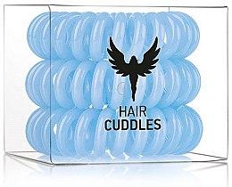Gumička na vlasy, modrá, 3 ks - HH Simonsen Hair Cuddles Light Blue — foto N1