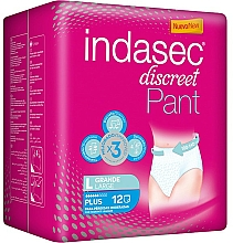 Parfémy, Parfumerie, kosmetika Hygienické vložky, 12 ks - Indasec Discreet Pant Plus