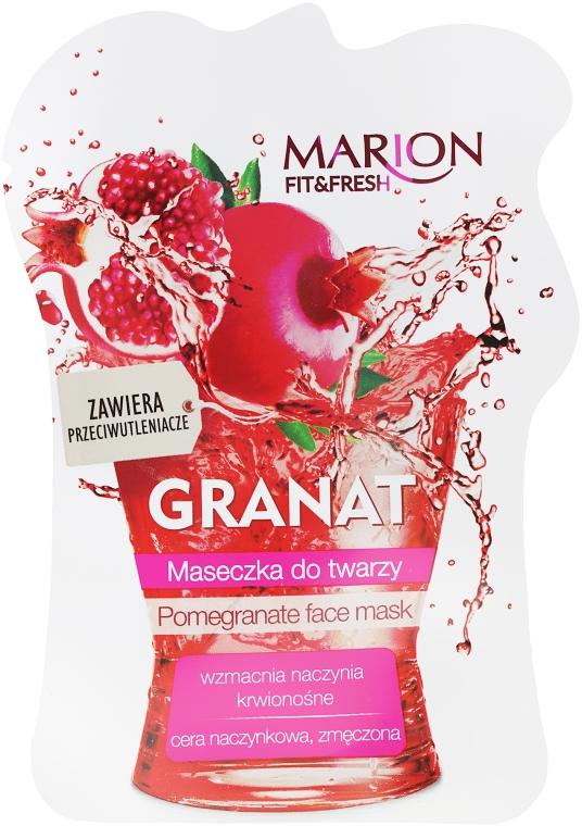 """Maska na obličej """"Granátové jablko"""" - Marion Fit & Fresh Pomegranate Face Mask"""