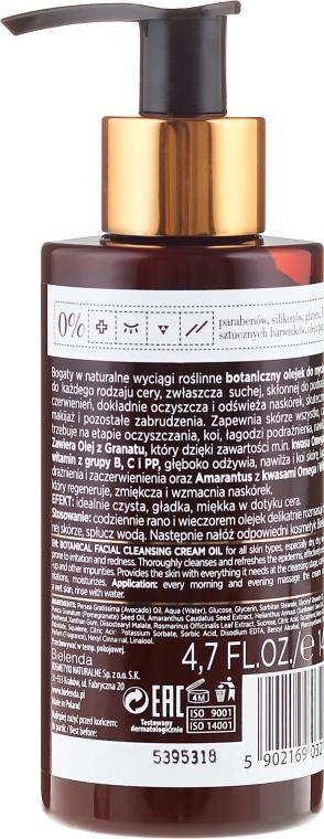 Čistící krémový olej na obličej - Bielenda Botanic Formula Pomegranate Oil + Amaranth Facial Cleansing Cream Oil — foto N2