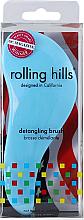 Parfémy, Parfumerie, kosmetika Kartáč na vlasy, modrý - Rolling Hills Detangling Brush Travel Size Sky Blue