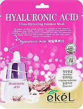 Parfémy, Parfumerie, kosmetika Látková pleťová maska s kyselinou hyaluronovou - Ekel Hyaluronic Acid Ultra Hydrating Essence Mask