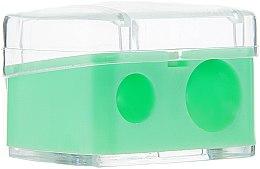 Parfémy, Parfumerie, kosmetika Dvojité barevné ořezávátko na tužky s krytem, světle zelená - Top Choice