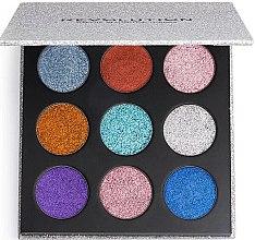 Parfémy, Parfumerie, kosmetika Paletka lisovaných třpytek - Makeup Revolution Pressed Glitter Palette Illusion