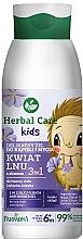 Parfémy, Parfumerie, kosmetika Gel na umývání a do koupele 3v1 Lněný květ - Farmona Herbal Care Kids