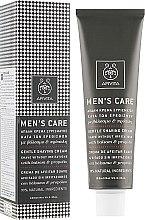 Parfémy, Parfumerie, kosmetika Jemný krém na holení s třezalkou a propolisem - Apivita Men Men's Care Gentle Shaving Cream With Hypericum & Propolis