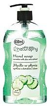 Parfémy, Parfumerie, kosmetika Tekuté mýdlo na ruce Okurka a aloe vera - Bluxcosmetics Naturaphy Hand Soap