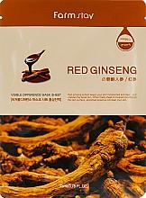 Parfémy, Parfumerie, kosmetika Plátýnková maska s extraktem z kořene červeného ženšenu - Farmstay Visible Difference Mask Sheet