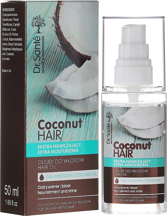 "Olej na vlasy ""Výživa a lesk"" - Dr. Sante Coconut Hair"