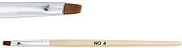 Dřevěný štětec pro gel №4 - NeoNail Professional — foto N1