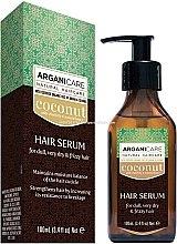 Parfémy, Parfumerie, kosmetika Sérum na vlasy s kokosovým olejem - Arganicare Coconut Hair Serum For Dull, Very Dry & Frizzy Hair