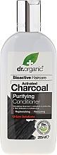 Parfémy, Parfumerie, kosmetika Kondicionér na vlasy s aktivním uhlím - Dr. Organic Bioactive Haircare Activated Charcoal Conditioner
