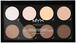 Parfémy, Parfumerie, kosmetika Konturovací paleta - NYX Professional Makeup Highlight & Contour Pro Palette