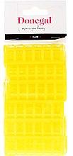 Parfémy, Parfumerie, kosmetika Natáčky na vlasy 9218, klasický tvar, 20 mm, žluté, 12 ks. - Donegal Hair Curlers