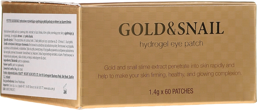 Hydrogelové oční náplastí se zlatem a extraktem hlemýžďového slizu - Petitfee & Koelf Gold & Snail Hydrogel Eye Patch
