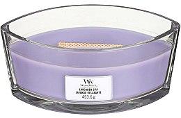 Parfémy, Parfumerie, kosmetika Aromatická svíčka ve sklenici - Woodwick Hearthwick Flame Ellipse Candle Lavender Spa