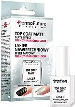 Parfémy, Parfumerie, kosmetika Matný vrchní lak na nehty - Dermofuture Precision Top Coat Matt