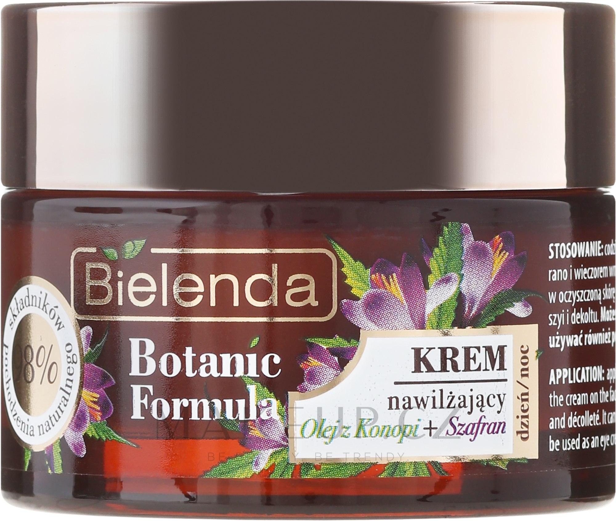 Hydratační krém na obličej - Bielenda Botanic Formula Hemp Oil + Saffron Moisturizing Cream — foto 50 ml