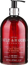 Parfémy, Parfumerie, kosmetika Tekuté mýdlo na ruce - Baylis & Harding Black Pepper & Ginseng Hand Wash