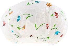 Parfémy, Parfumerie, kosmetika Sprchová čepice, 9298, bílá s květinami - Donegal Shower Cap
