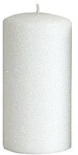 Parfémy, Parfumerie, kosmetika Dekorativní svíčka, bílá, 7x14 cm - Artman Glamour