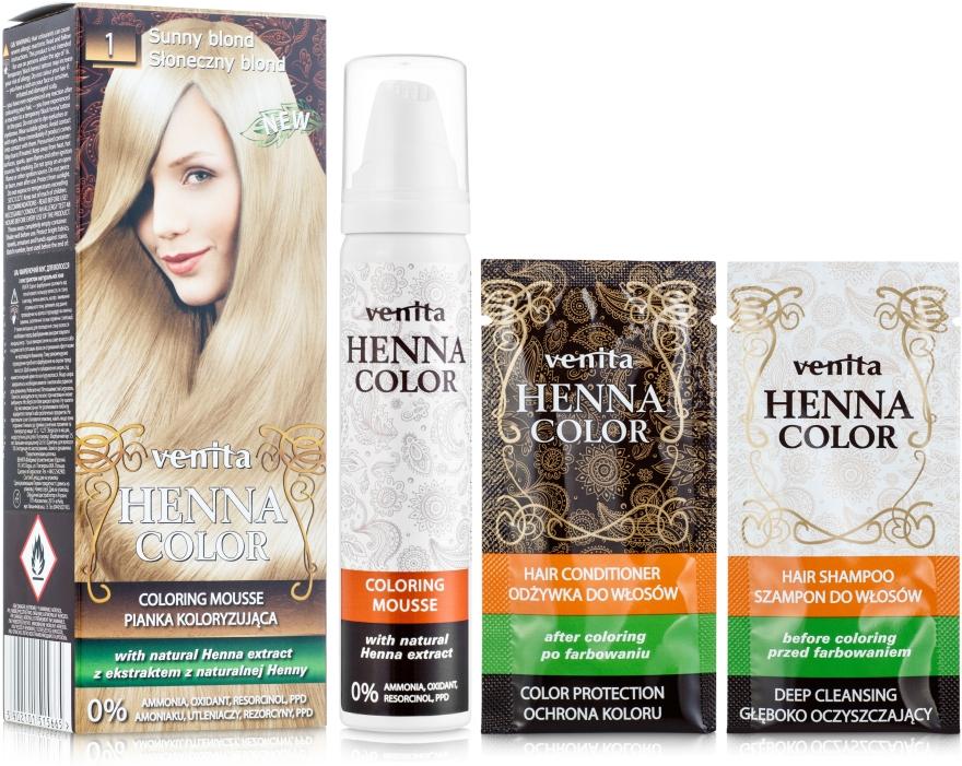 Barvící mousse na vlasy - Venita Henna Color Coloring Mousse