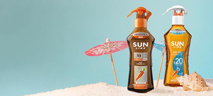 Sleva na akční produkty Sun Like. Ceny na webu jsou včetně slev