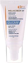 Parfémy, Parfumerie, kosmetika Lehký krém proti pigmentaci pro normální a kombinovanou pleť - Ducray Melascreen UV Light Cream SPF 50+
