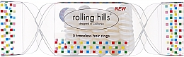 Parfémy, Parfumerie, kosmetika Gumička do vlasů, průhledná - Rolling Hills 5 Traceless Hair Rings Cracker