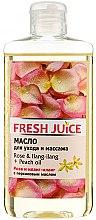Parfémy, Parfumerie, kosmetika Pečující a masážní olej Růže a Ylang-Ylang + broskvový olej - Fresh Juice Energy Rose&Ilang-Ilang+Peach Oil