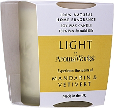 Parfémy, Parfumerie, kosmetika Aromatická svíčka Mandarinka a vetiver - AromaWorks Light Range Mandarin & Vetivert Candle