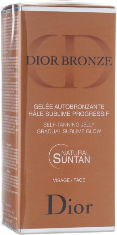 Samoopalovač na obličej - Dior Bronze Self-Tanning Jelly Face — foto N2