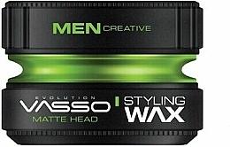 Parfémy, Parfumerie, kosmetika Matný stylingový vosk - Vasso Professional Hair Styling Wax Pro-Matte Head