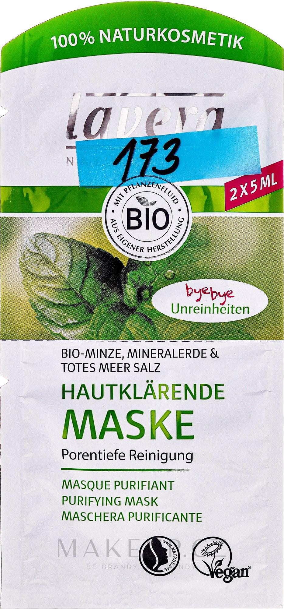 BIO čisticí pleťová maska - Lavera Bio-Mask Cleansing — foto 2x5 ml