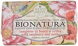 "Parfémy, Parfumerie, kosmetika Mýdlo ""Malina a kopřiva"" - Nesti Dante Bio Natura Bush Raspberry & Nettle Soap"