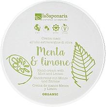 """Parfémy, Parfumerie, kosmetika Krém na ruce """"Máta a citron"""" - La Saponaria Hand Cream Mint and Lemon"""