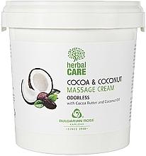 Parfémy, Parfumerie, kosmetika Masážní krém s kakaem a kokosem, bez parfemace - Bulgarian Rose Herbal Care Cocoa & Coconut Massage Cream Odorless