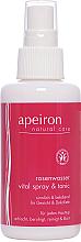 Parfémy, Parfumerie, kosmetika Sprej na obličej a výstřih s růžovou vodou - Apeiron Rose Water Vital-Spray
