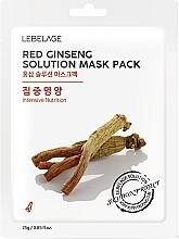Parfémy, Parfumerie, kosmetika Pleťová maska látková - Lebelage Red Ginseng Solution Mask