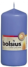 Parfémy, Parfumerie, kosmetika Válcová svíčka, modrá, 120/58 mm - Bolsius Candle