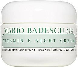 Parfémy, Parfumerie, kosmetika Noční pleťový krém s vitamínem E - Mario Badescu Vitamin E Night Cream