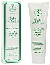 Parfémy, Parfumerie, kosmetika Krém na holení Citron a limetka - Taylor of Old Bond Street Lemon&Lime Luxury Shaving Cream (v tubě)